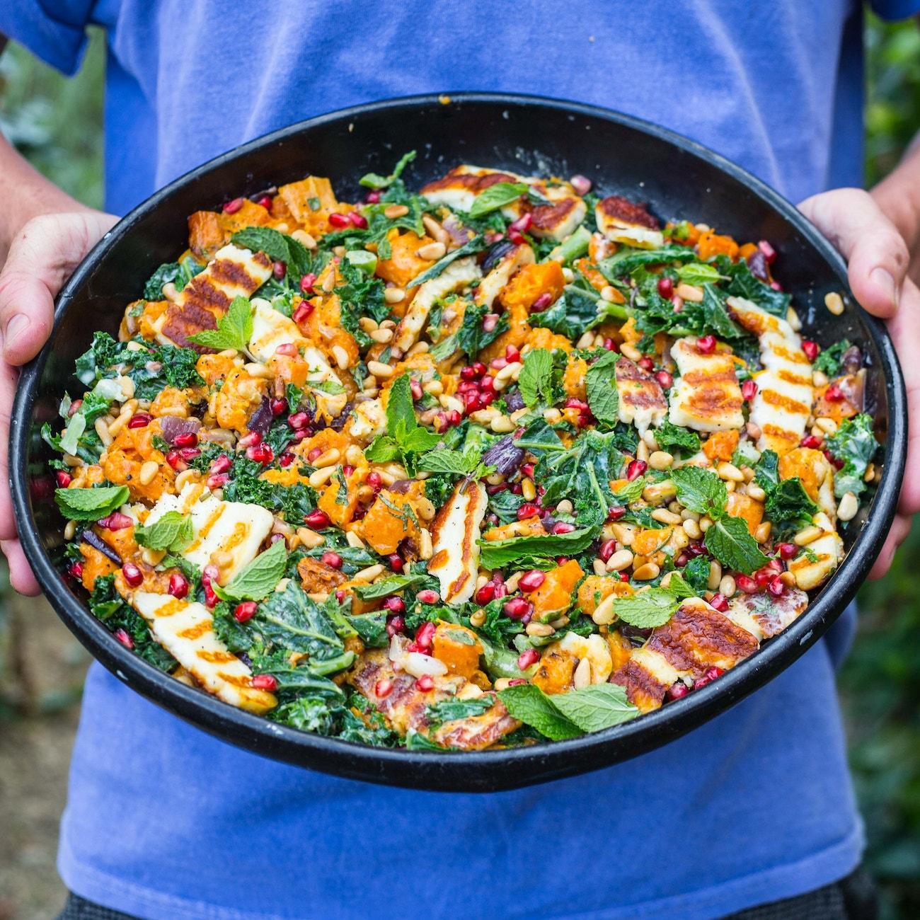 The Ultimate Halloumi Butternut Squash  Tahini Salad