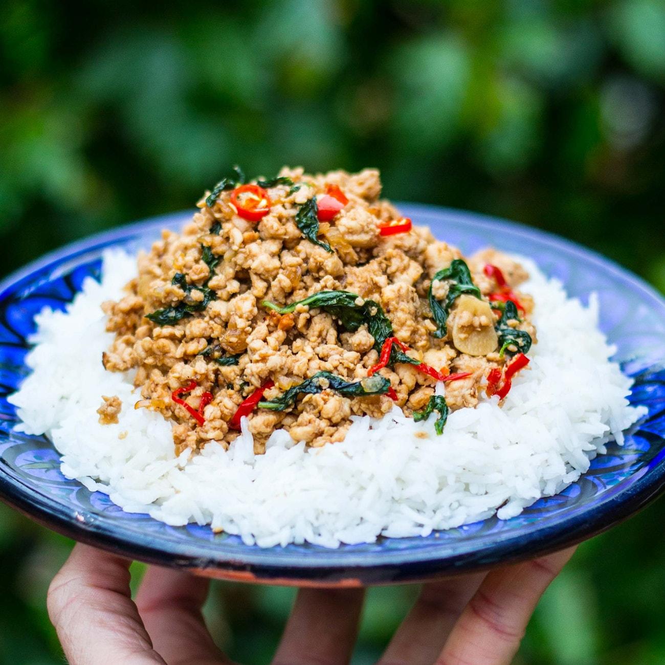 Mob Kitchen Thai Basil Chicken Mob Style